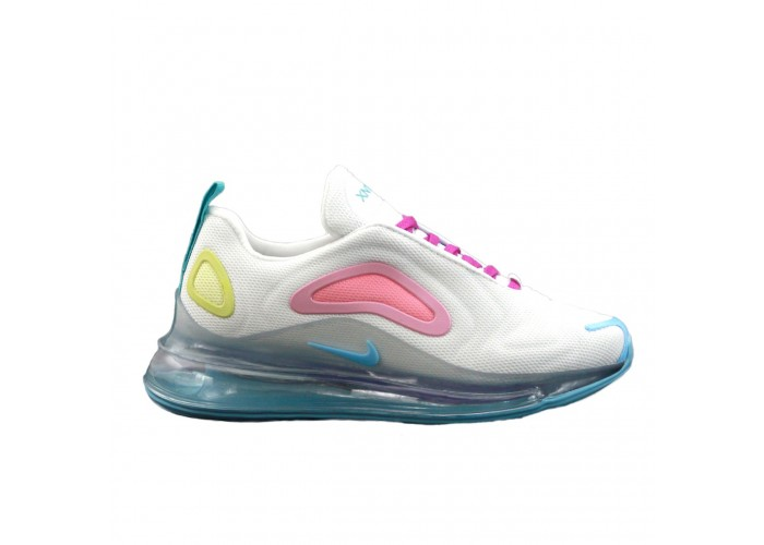 Кроссовки Nike Air Max 720 White/Pink/Yellow (36-40)