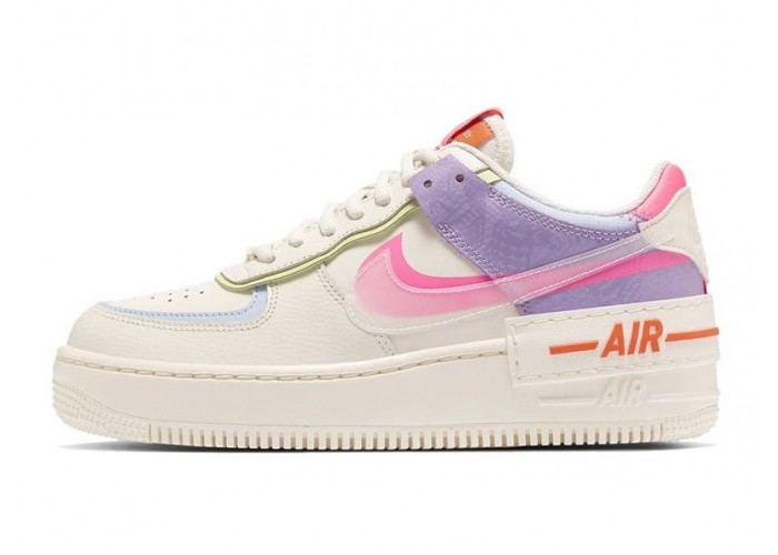 Кроссовки Nike Air Force Shadow White Violet Pink (36-40)