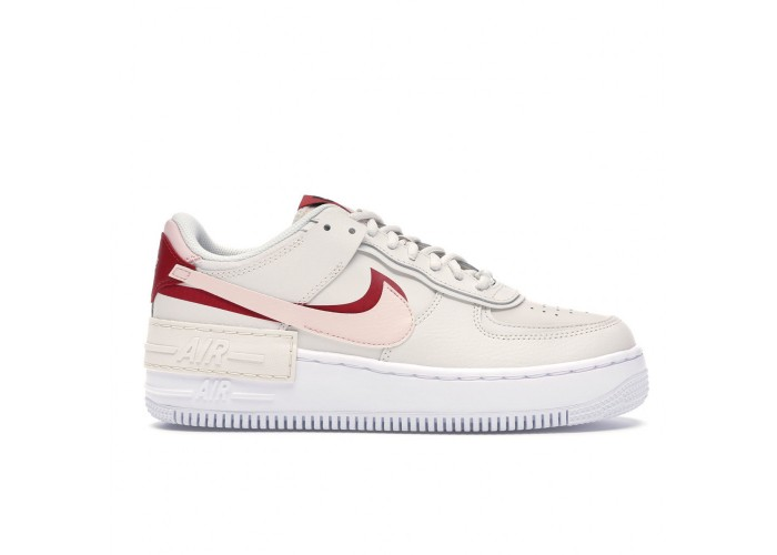 Кроссовки Nike Air Force 1 Shadow Pink — Gym Red (36-40)