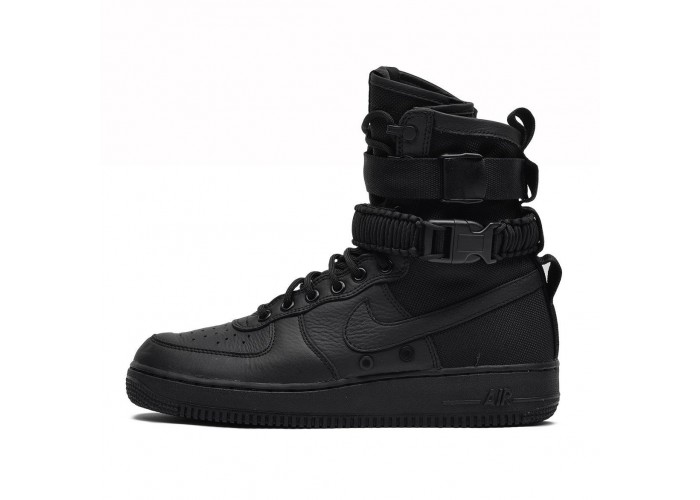 Кроссовки Nike SF AF1 Special Forces Field Air Force One 1 TRIPLE BLACK (41-45)