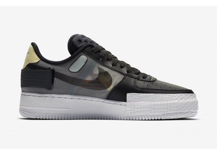 Кроссовки Nike Air Force 1 AF1 Low Type Black (36-45)