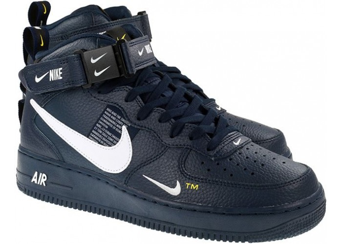 Кроссовки  NIKE AIR FORCE 1 MID UTILITY 07 LV8 OBSIDIAN WHITE BLACK (36-45)