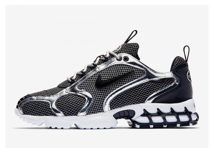 Nike Air Zoom Spiridon Caged x Stussy Fossil/Black