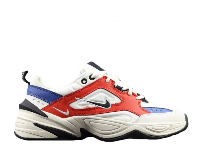 Кроссовки Nike M2K Tekno Red/Blue С МЕХОМ (36-45)