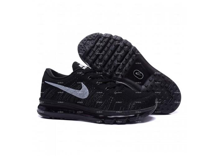 Мужские кроссовки Nike Air Max Flyknit (черный)